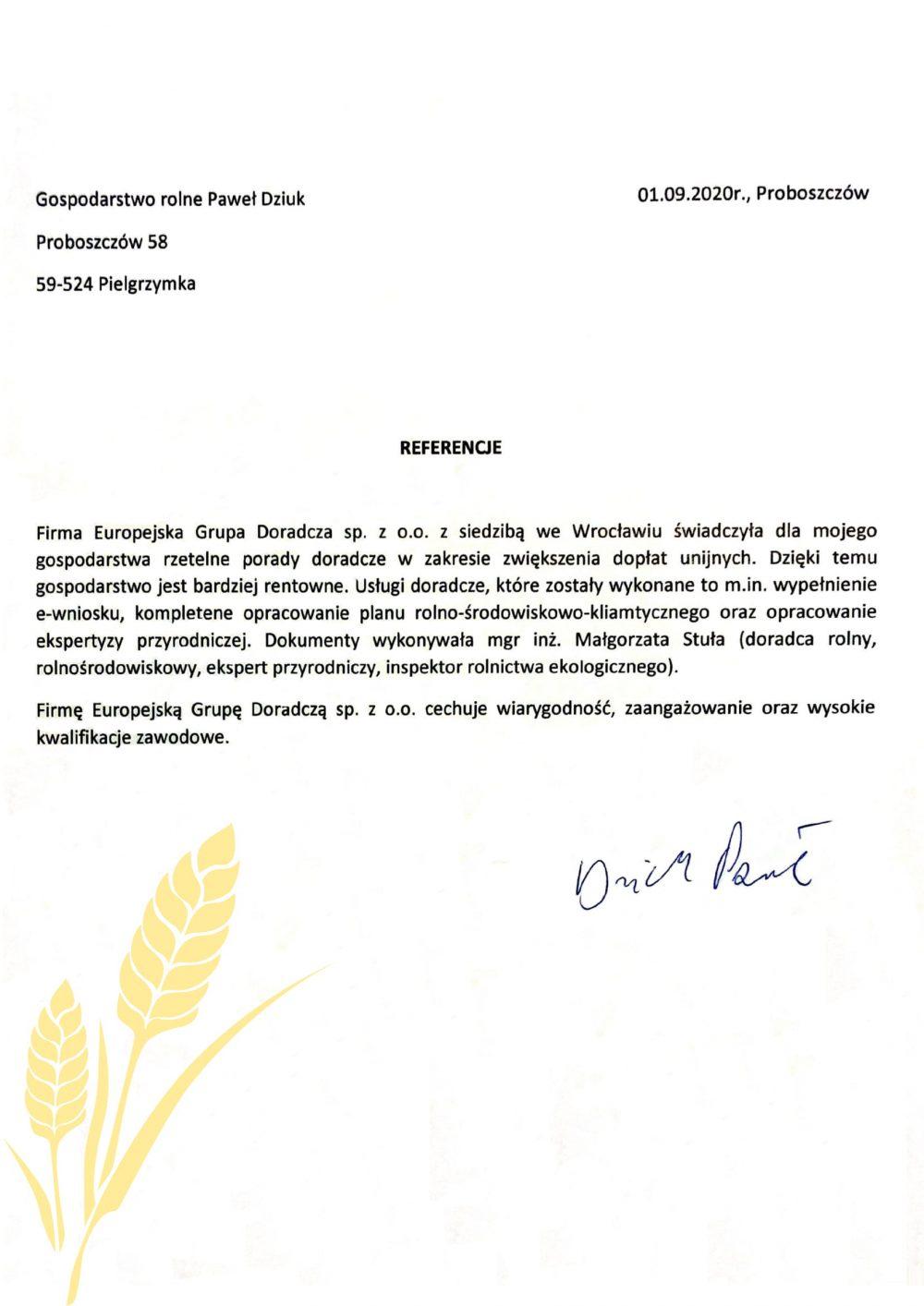 Opinie Twój Doradca Rolny - Paweł Dziuk
