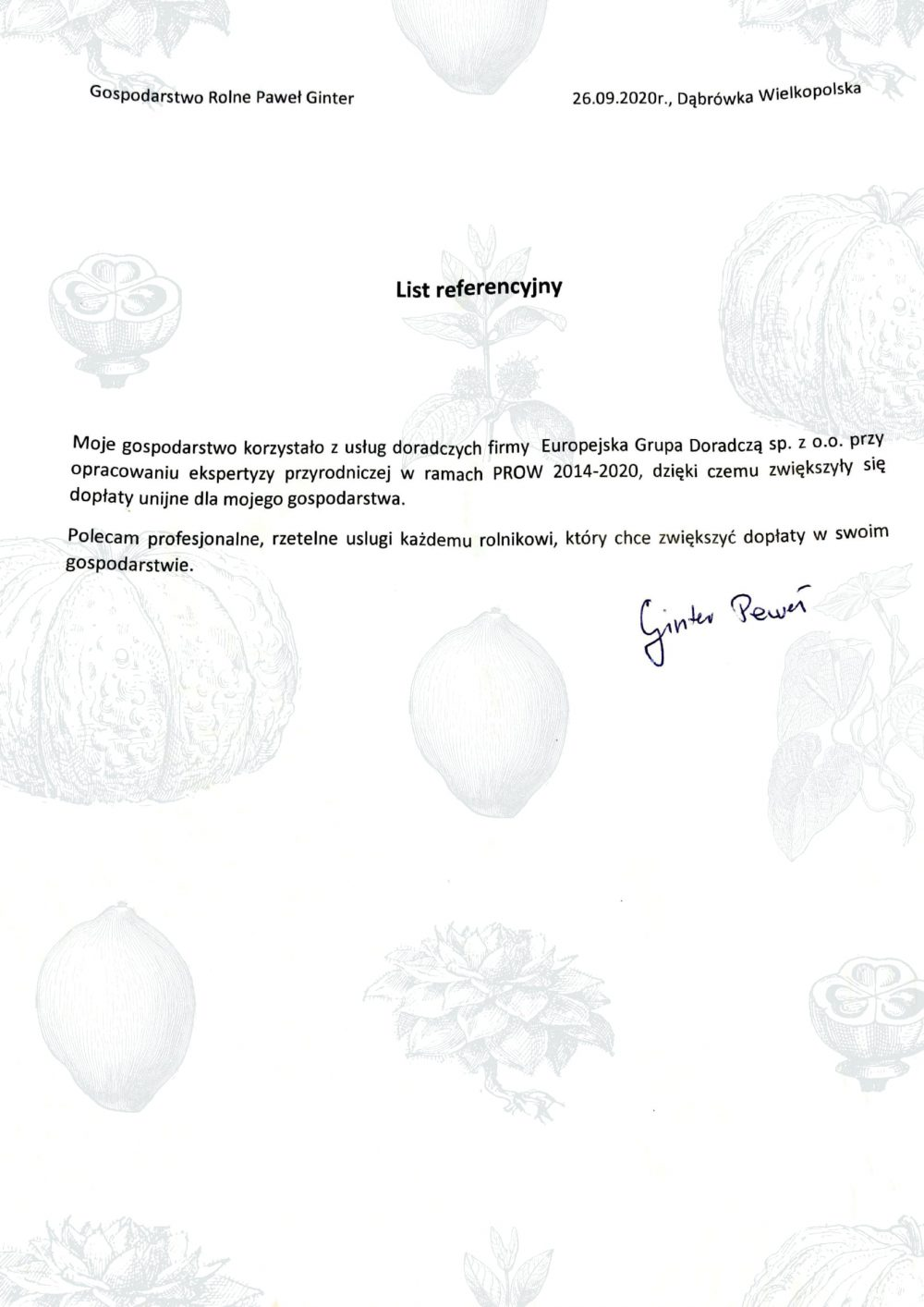 Opinie Twój Doradca Rolny - Paweł Ginter