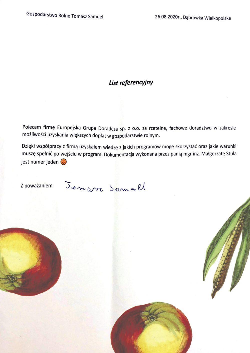 Opinie Twój Doradca Rolny - Samuel Tomasz
